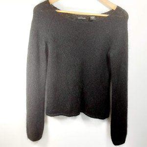 Moda International Black Mohair Blend Sweater